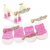 Носки собаки кошки розовый цветной хлопковый антипромах вязания воздухопроницаемые любимые носки