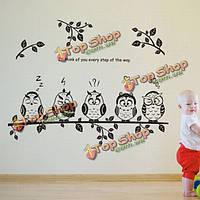 Сова детского сада птицы детские спальни домашний декор DIY стикер стены
