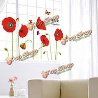 Кукуруза мака бабочки стикер стены искусства DIY домашнее украшение
