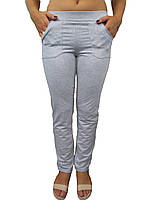 Жіночі трикотажні штани сірі