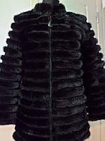 Полушубок из пластин норки ворот стойка съёмный рукав на 3/4 длина 75см 44р 46р 48р