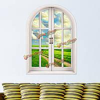 Синий Sky 3d искусственное окно просмотра Паг наклейки для стен Greenfield наклейки комната стены дома подарок декора