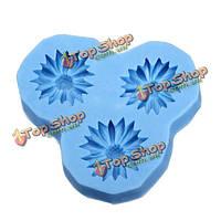 Кремния шоколадные конфеты ремесел прессформы смолаы цветка мыла плесень