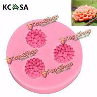 KCASA™ силиконовой смолы цветок мяч формы Cake украшение мыла прессформы