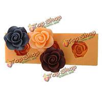F0045 силиконовой смолы цветок фондант Cake прессформы шоколада прессформы мыла