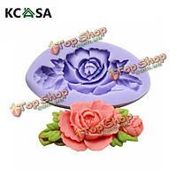 KCASA™ f0199 силиконовые розы Cake плесень мыла шоколад смолы плесень