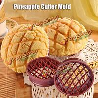 Ананасовый хлеб прессформы прессформы торта ананаса прессформы выпечки булочка резак инструмент