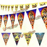 Хэллоуин украшения на Хэллоуин реквизит треугольника вымпела флаги