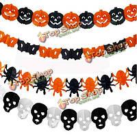 7styles Хэллоуин бумаги гирлянды украшения Хэллоуин реквизит