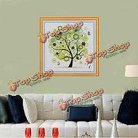 45x45см DIY вышивка крестом комплект springtree печать ручной работы вышивка украшение дома