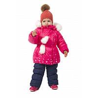 Зимний костюм для девочки с отстегивающийся овчиной на 1 год