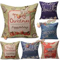 Рождество буквы бросить наволочка квадратный диван офис Чехлы домашнего декора