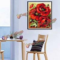 30x40см 5D романтическая красная роза цветок DIY алмазов картина горный хрусталь комплект крестиком