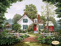 Схема для вышивки бисером Уютный домик
