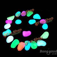 20шт аквариумных рыб бак световой светоизлучающих искусственный галечный камень аквариум украшения