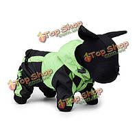 Искусственная кожа собака плащ пончо одежды одежды водонепроницаемые капюшоном