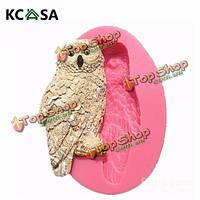KCASA™ мило силиконовые Сова помадной Cake плесень шоколад полимерная глина плесень