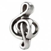 Серебряный шарм бусина подвеска Пандора Скрипичный ключ Музыка