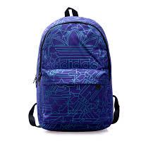Рюкзак Adidas фиолетовый с голубыми рисунками