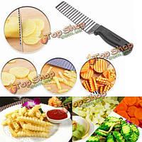 Картофельных чипсов картофель фри волнистый резец резки овощерезка