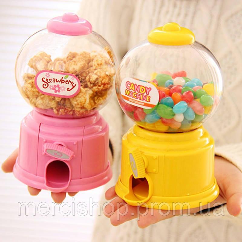 2 в 1: копилка + конфетная машина candy machine, конфетница, копилка для конфет