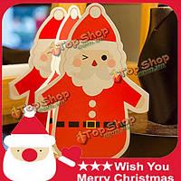 5шт/lot Рождество поздравительные открытки складные карты фестивали подарок