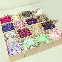 100г измельченных красочные ткани бумаги дары корзины коробки начинка наполнитель