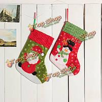 Новогоднее украшение чулок елочные украшения подарка украшения