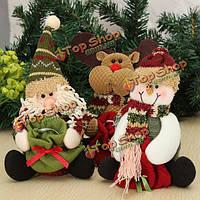 Новогодний сувенир Санта Клаус Снеговик Олень