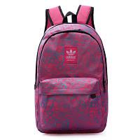 Городской рюкзак Adidas розовый с изображением голубых фотоаппаратов (реплика)