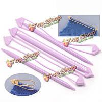 20см акриловые лиловые Двухсторонние держатели стежка свитер вязание вспомогательные аксессуары