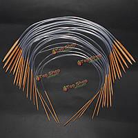 18 размеры науглероживают круговые бамбуковые спицы для вязания