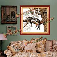 46x45см DIY вышивка крестом ленивый кот печати embroideryhome набор декора рукоделия