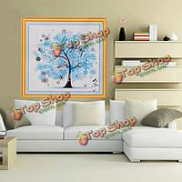 45x45см DIY вышивка крестом набор дерево зимой печать ручной работы вышивка украшение дома