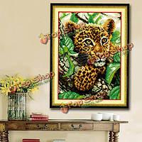 25x34см DIY вышивки крестом вышивка комплект маленький леопард вышивка украшение дома