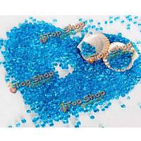 Лед синий стеклянный песок аквариум ландшафтный дизайн оформление аквариума песок