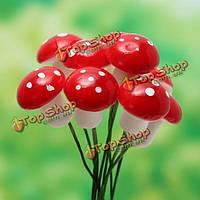 10шт миниатюрный пластмассовый грибной мох микро пейзаж сделай сам художественные оформления