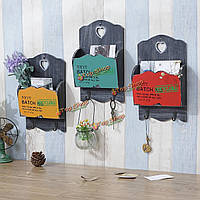 ZAKKA старинные деревянные почты письмо держатели организатор висит ключ стойки стены мебель для хранения декор