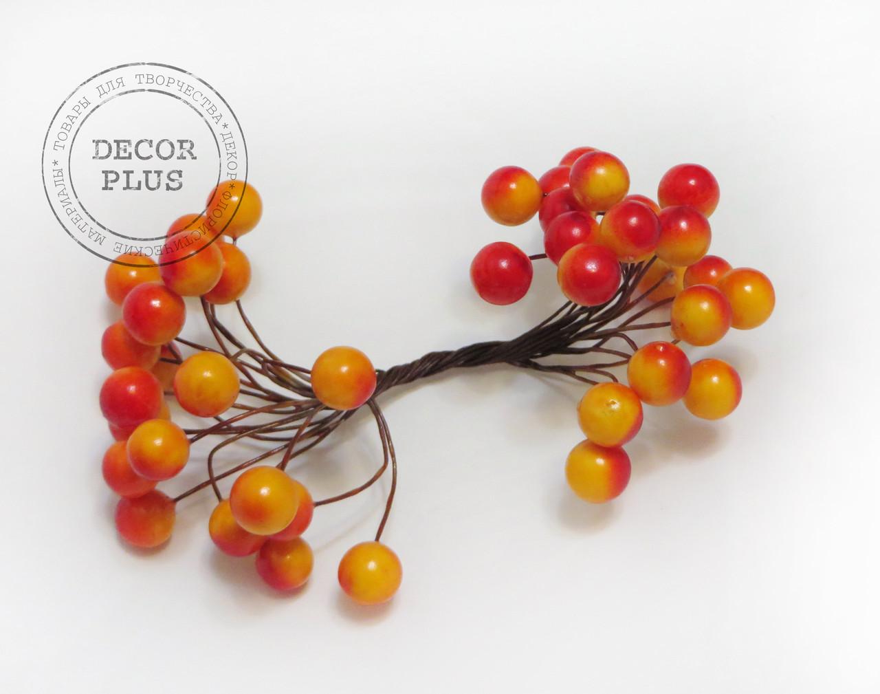 Калина гладкая 10 мм оранжево-красная