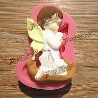 Молился мальчик ангел силикона фондант торт прессформы шоколада прессформы мыла