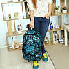 Рюкзак Nike черный с голубым логотипом и цифрами (реплика), фото 2