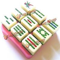 Поделки маджонг торта прессформы шоколада прессформы выпечки инструмент сахарное печенье украсить