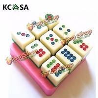 KCASA™ DIY цилиндр маджонг инструмент шоколадный Cake плесень плесень сахарное печенье выпечки