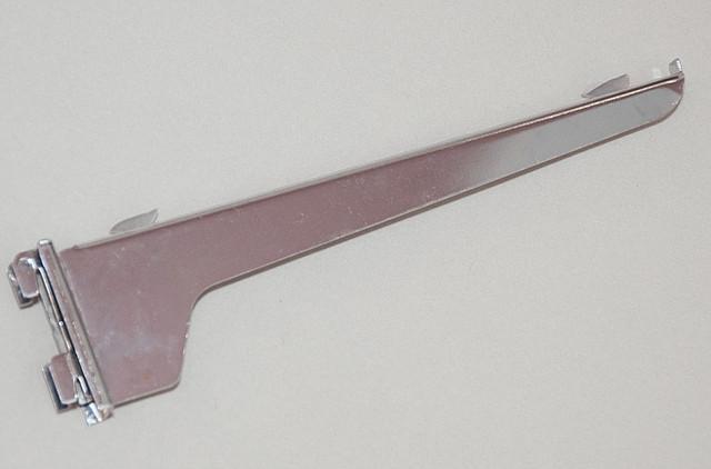 Полкодержатель хром в рейку двойной 35 см.