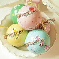 Счастливый сладкий шарик чая коробки подарка конфеты жестяная коробка для хранения ювелирных изделий