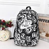 Рюкзак Nike черный с белым логотипом и цифрами