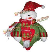 Снеговик с красным шарфом рождества Xmas куклы украшения