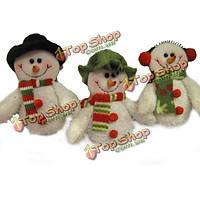 Снеговики с шарфами рождественские Рождество подарок для украшения bk652