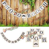 Бумага овсянка баннер гирлянда фото реквизит Photo Booth баннер украшение партии