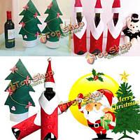 Рождество крышка бутылки вина рождества рождество одежды дерево бутылки украшения пальто бутылку